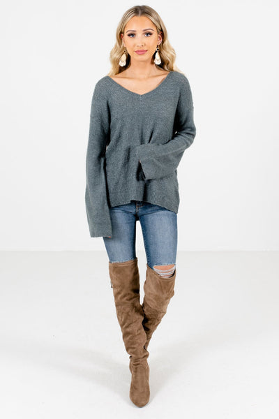 Women's Green Cozy and Warm Boutique Clothing