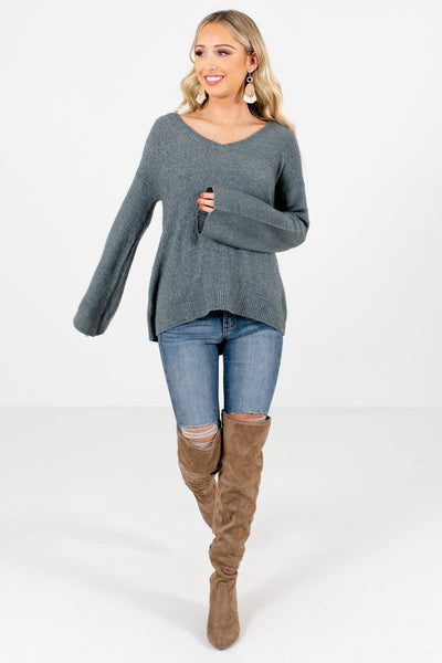 Green Cute and Comfortable Boutique Sweaters for Women