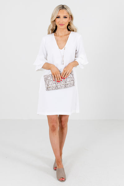 White Special Occasion Boutique Mini Dresses for Women