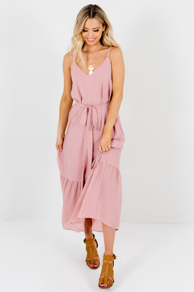 Light Pink Cute and Comfortable Boutique Maxi Dresses for Women