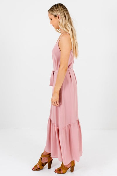 Light Pink Tank Style Boutique Maxi Dresses for Women