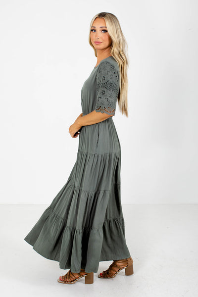 Green Maxi Dress Boutique Clothing for Women