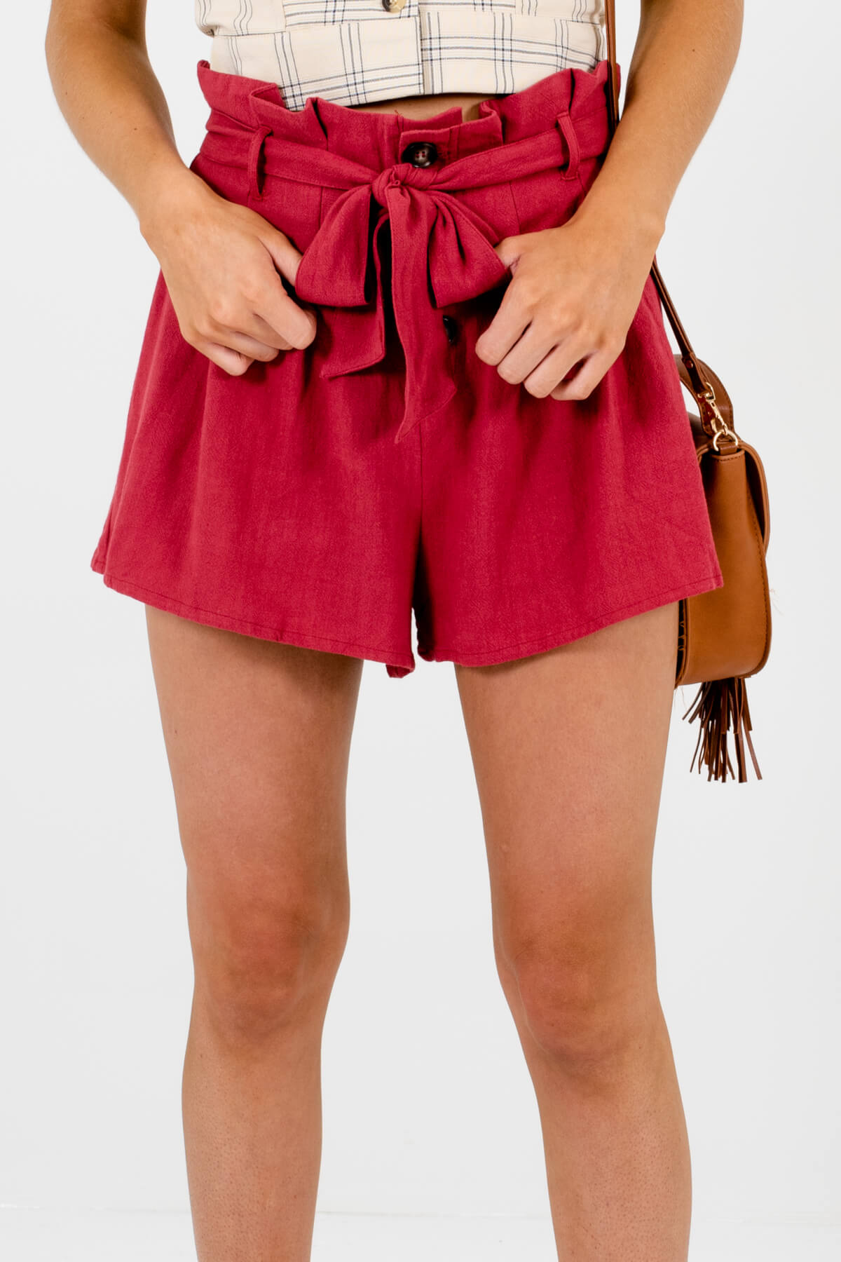 Dark Pink High-Quality Boutique Shorts for Women