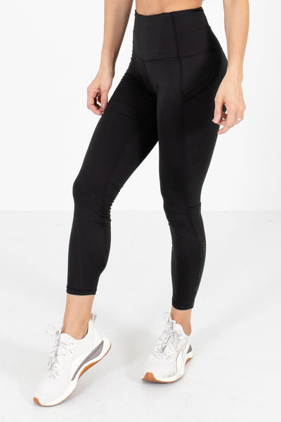 Black High Waisted Style Boutique Active Leggings for Women