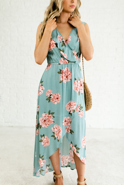 Light Teal Blue Boutique Sundresses for Women