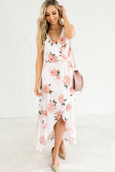 White Floral Boutique Sundresses for Women