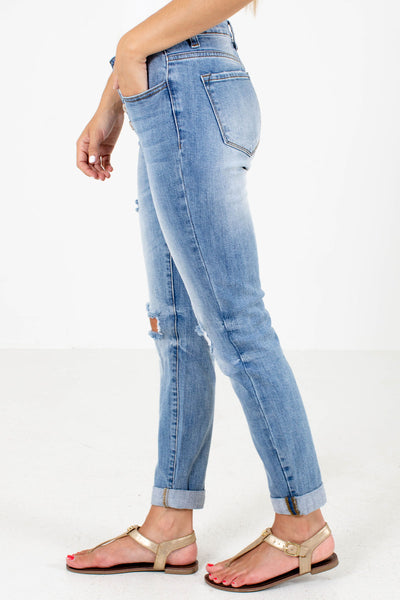 Women's Blue Cute and Comfortable Boutique Jeans with Pockets