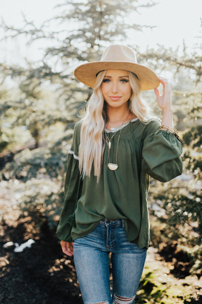 Olive Green Affordable Online Boutique Clothing