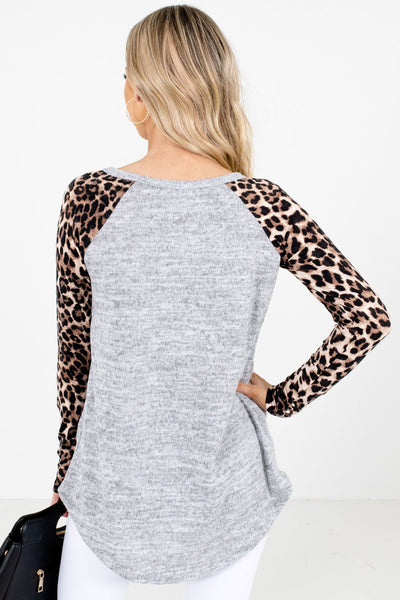 Gray High-Quality Super Soft Material Boutique Tops for Women