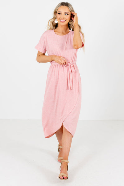Pink Cute and Comfortable Boutique Knee-Length Dresses for Women