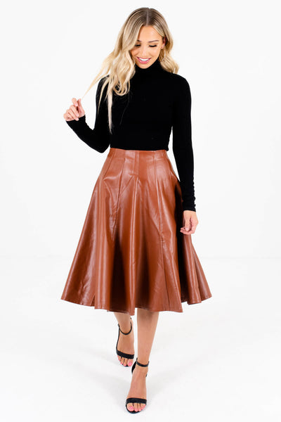 Brown Cute and Comfortable Boutique Skirts for Women