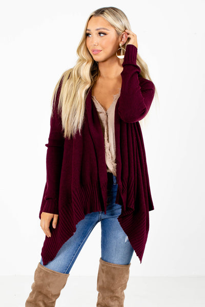 Purple Cute and Comfortable Boutique Cardigans for Women