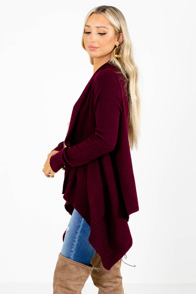 Purple Long Sleeve Boutique Cardigans for Women