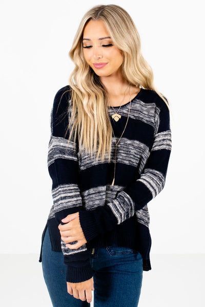 Women's Navy Blue Cozy and Warm Boutique Sweaters
