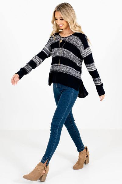 Navy Blue Cute and Comfortable Boutique Sweaters for Women