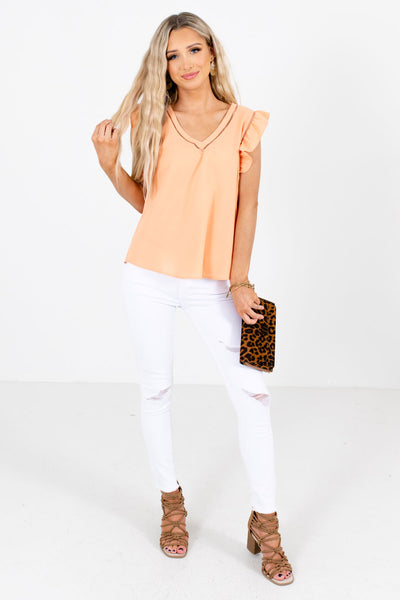 Women's Orange Business Casual Boutique Clothing