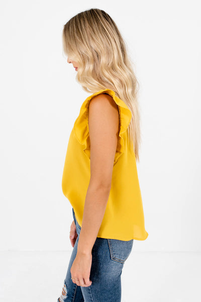 Mustard Yellow Cute and Comfortable Boutique Tank Tops for Women