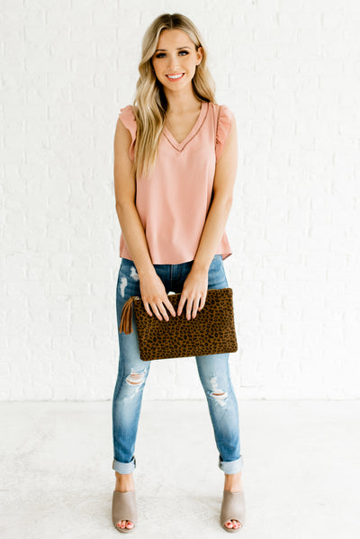 Rose Pink Women's Business Casual Boutique Clothing