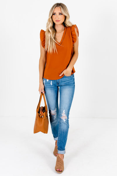Women's Rust Orange Business Casual Boutique Clothing