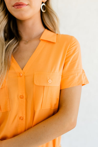 Orange Business Casual Boutique Clothing for Women