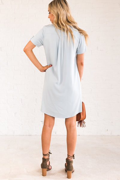 Light Powder Blue Affordable Online Boutique Women's Clothing