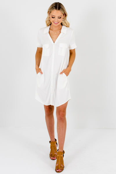 White Cute Boutique Women's Dress