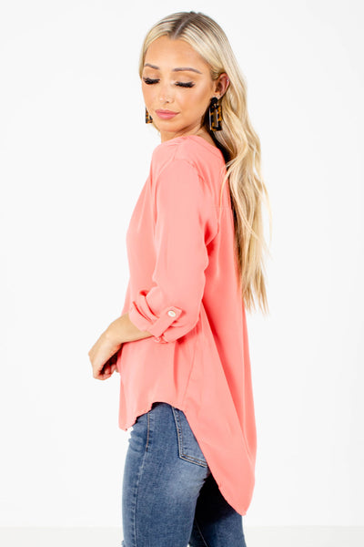 Women's Coral Cute and Comfortable Boutique Blouse