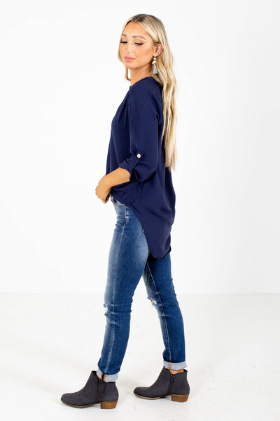 Navy Affordable Online Boutique Tops for Women