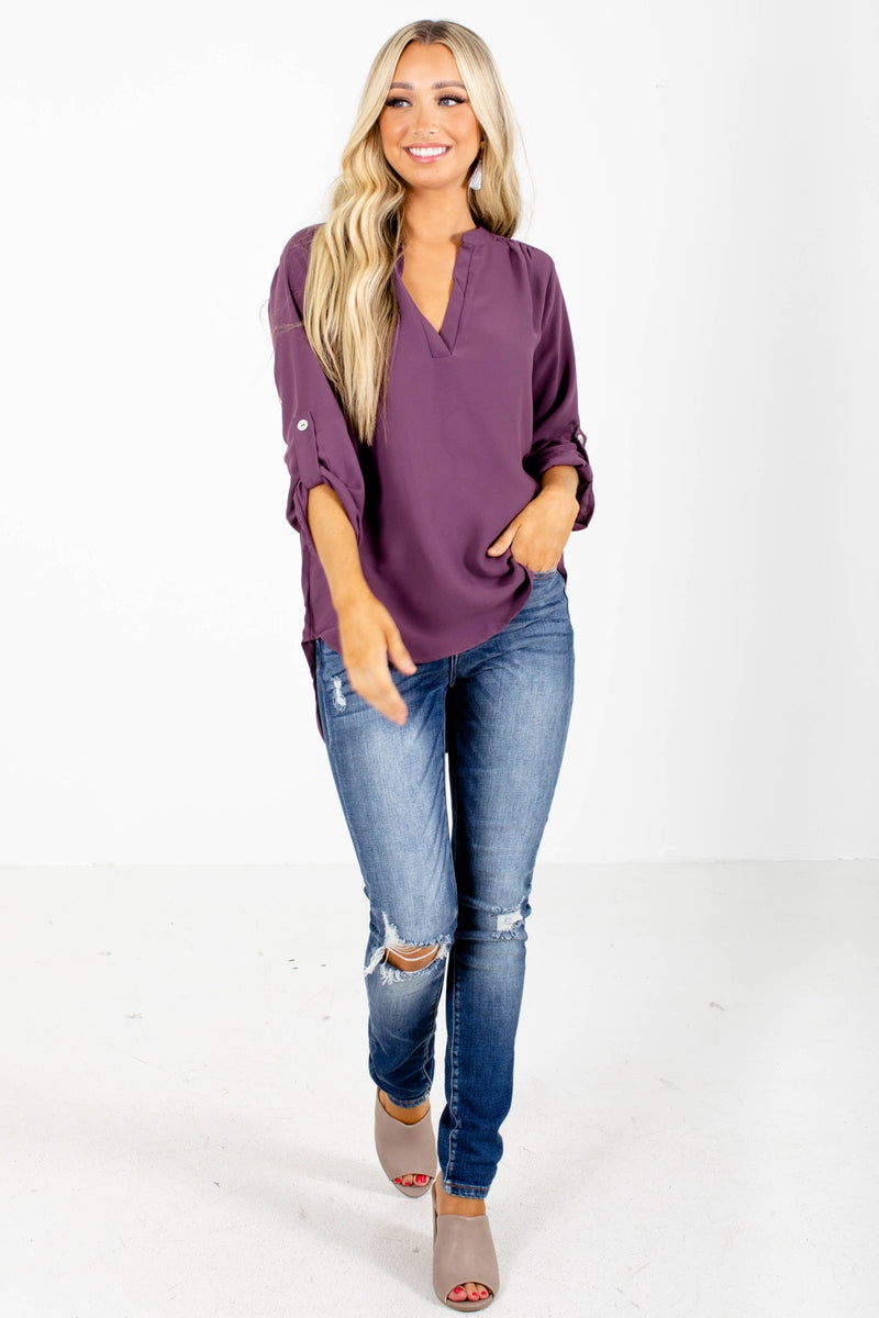Busy Woman Plum Blouse