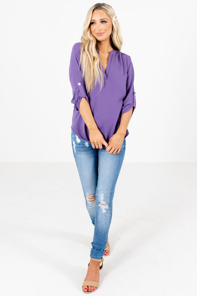 Purple Cute and Comfortable Boutique Blouses for Women