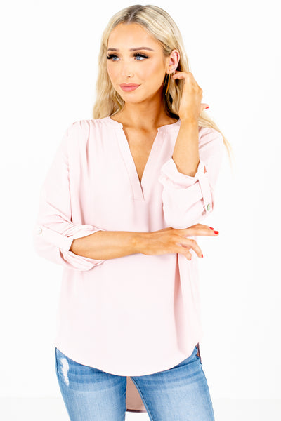 Blush Pink Cute and Comfortable Boutique Blouses for Women