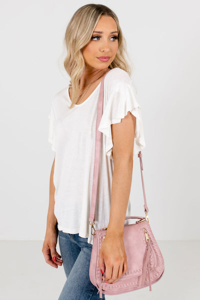 Women's White Casual Everyday Boutique Blouse
