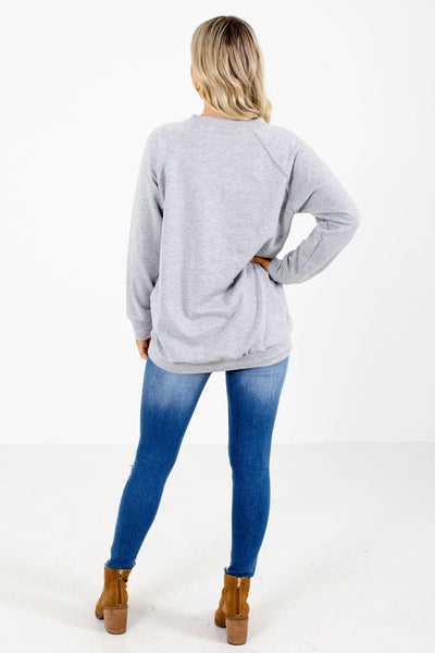 Striped Grey Boutique Sweaters For Women