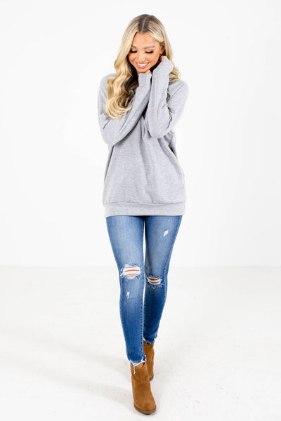 Grey Sweater Affordable Online Boutique