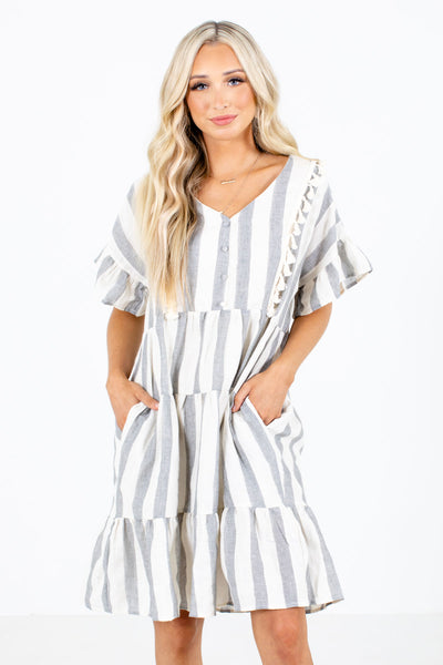 By The Seashore Striped Mini Dress