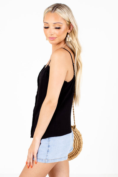 Black Summer Boutique Tank Tops for Women