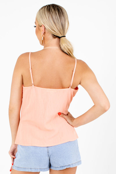 Pink Adjustable Strap Boutique Tank Tops for Women