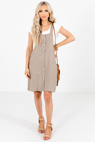 Brown Boutique Layering Mini Dresses for Women