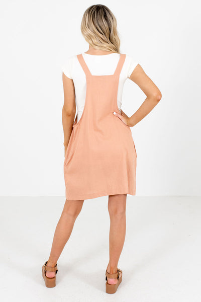 Women's Pink Pinafore Style Boutique Mini Dresses