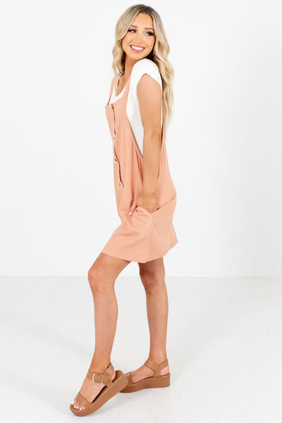 Pink Boutique Mini Dresses with Pockets for Women