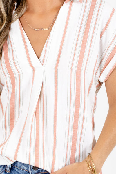 Coral Cute and Comfortable Boutique Shirts for Women