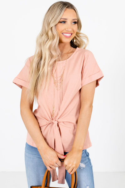 Women's Pink Center Seam Boutique Tops