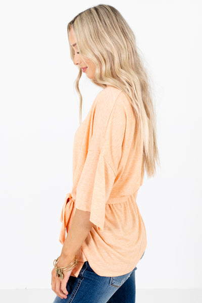 Orange Cute and Comfortable Boutique Tops for Women