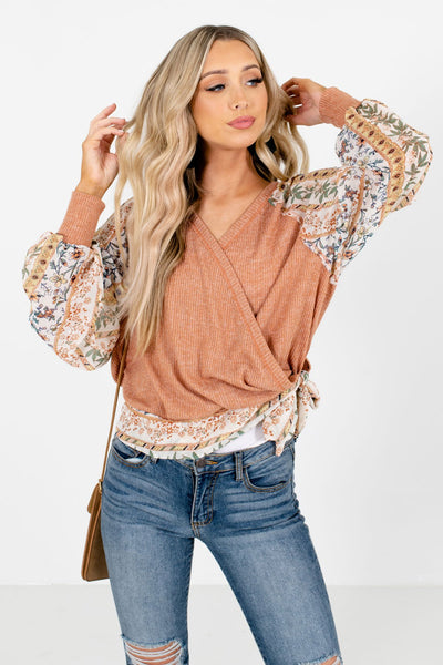 Orange Cute and Comfortable Boutique Blouses for Women