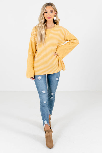 Women's Yellow Fall and Winter Boutique Clothing