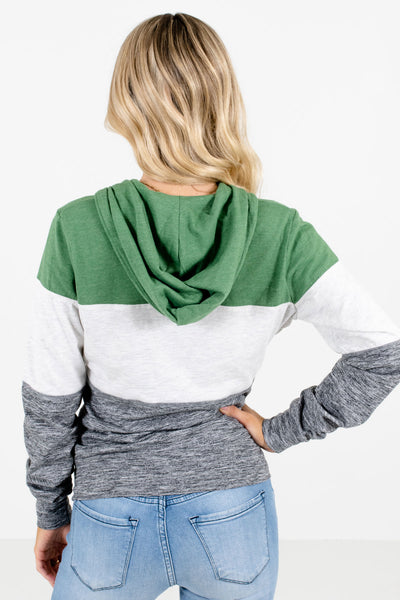 Women's Green Zip-Up Front Boutique Jacket