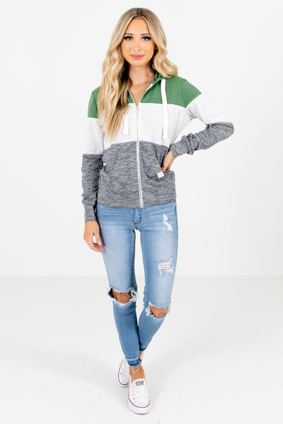 Women's Green Casual Everyday Boutique Jacket