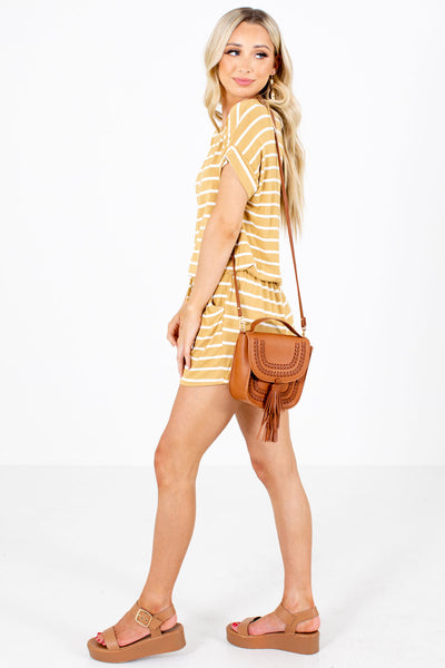 Yellow Cute and Comfortable Boutique Rompers for Women