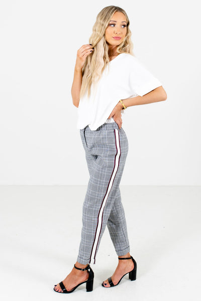 Black Plaid Cute and Comfortable Boutique Pants for Women