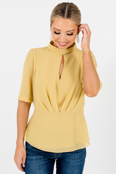 Yellow Cute and Comfortable Boutique Blouses for Women